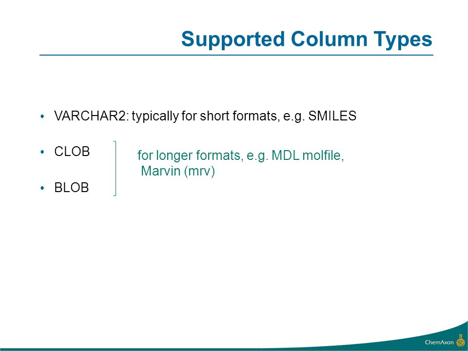 Supported Column Types