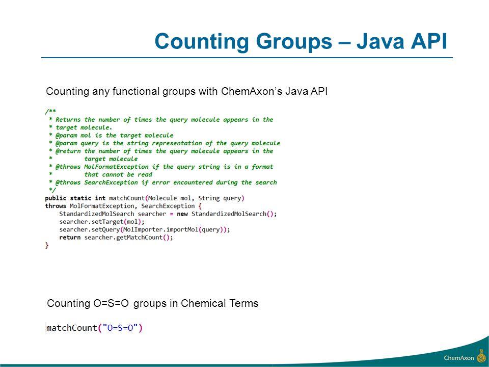 Counting Groups – Java API
