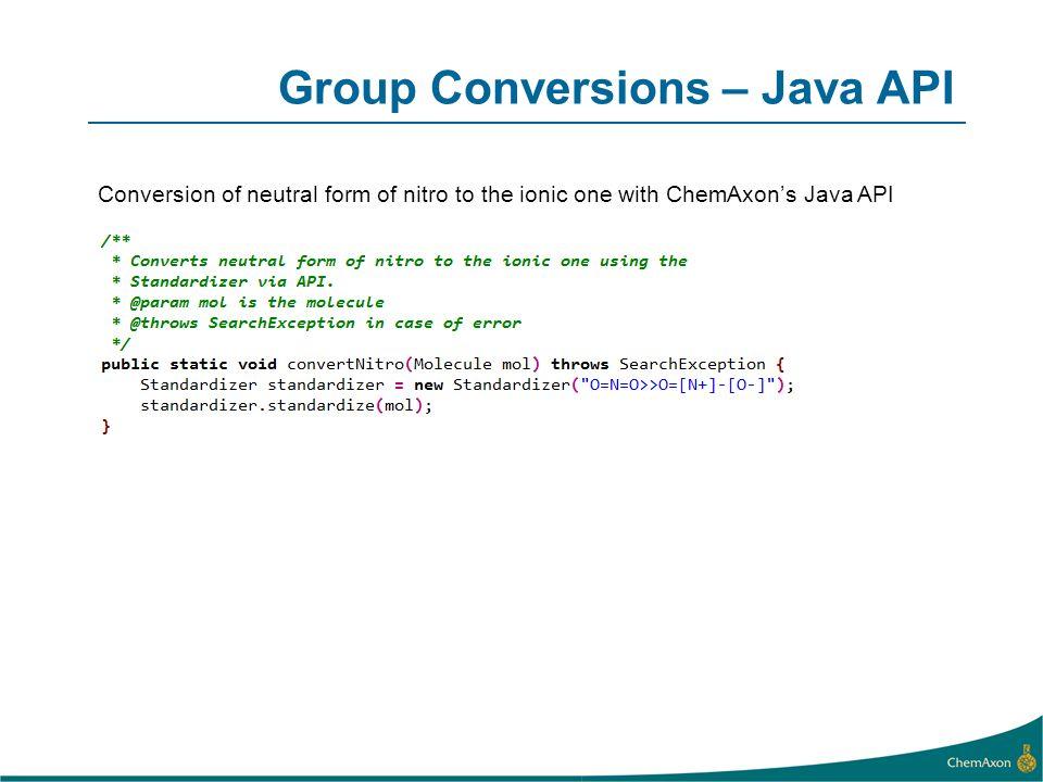 Group Conversions – Java API