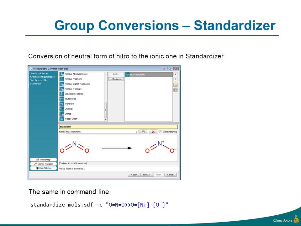 Group Conversions – Standardizer