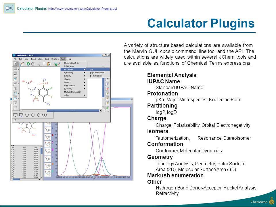 Calculator Plugins Elemental Analysis IUPAC Name Protonation
