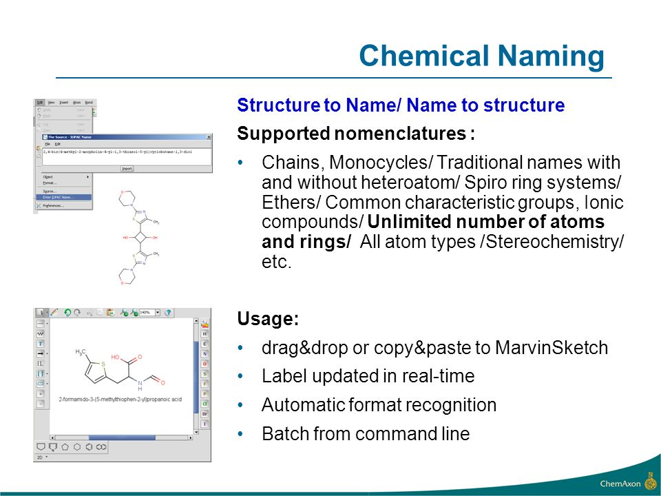 Chemical Naming Structure to Name/ Name to structure