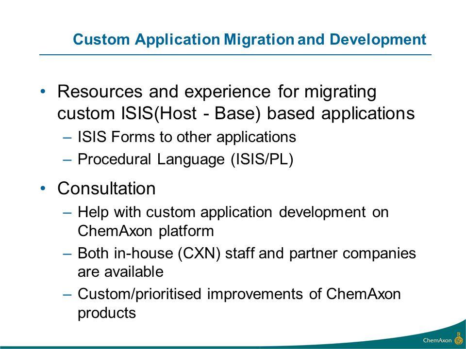 Custom Application Migration and Development