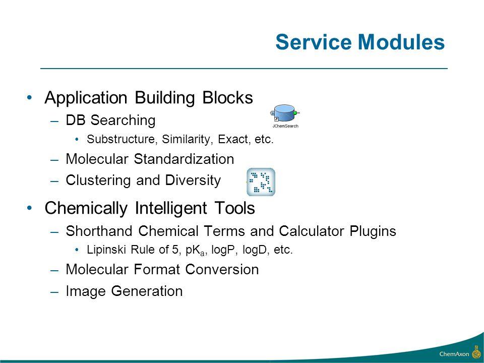 Service Modules Application Building Blocks