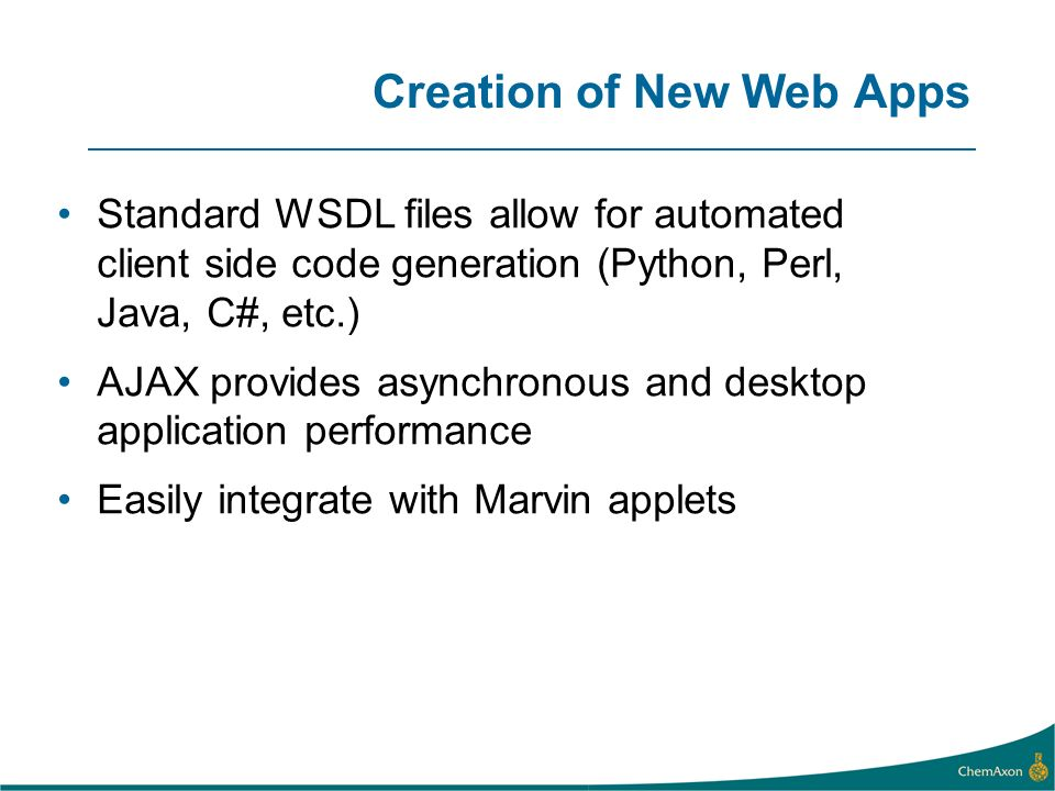 Creation of New Web Apps