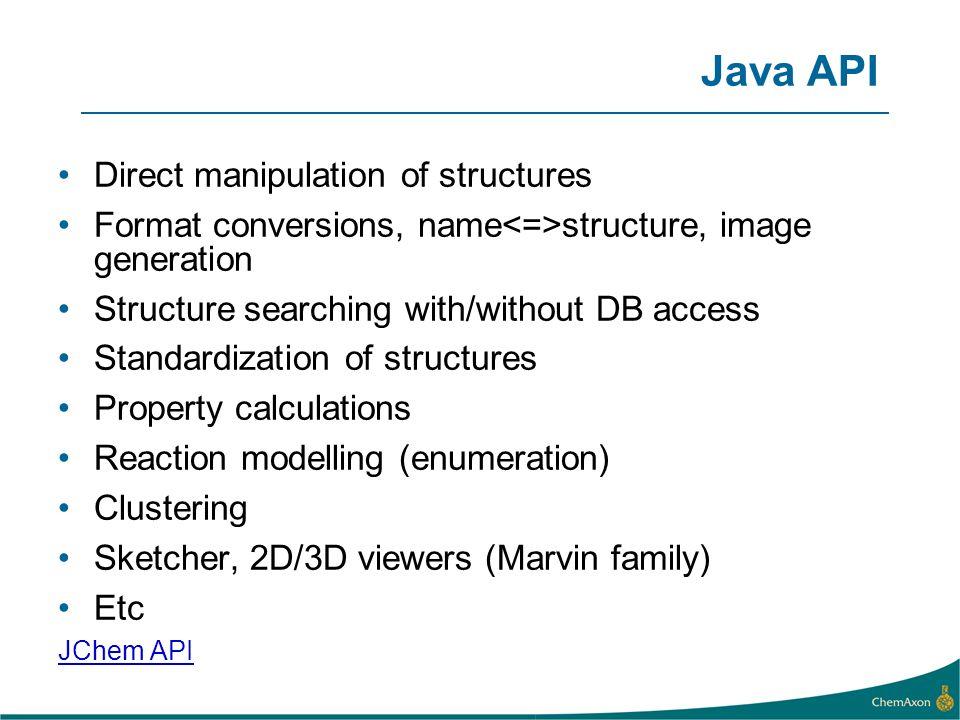 Java API Direct manipulation of structures