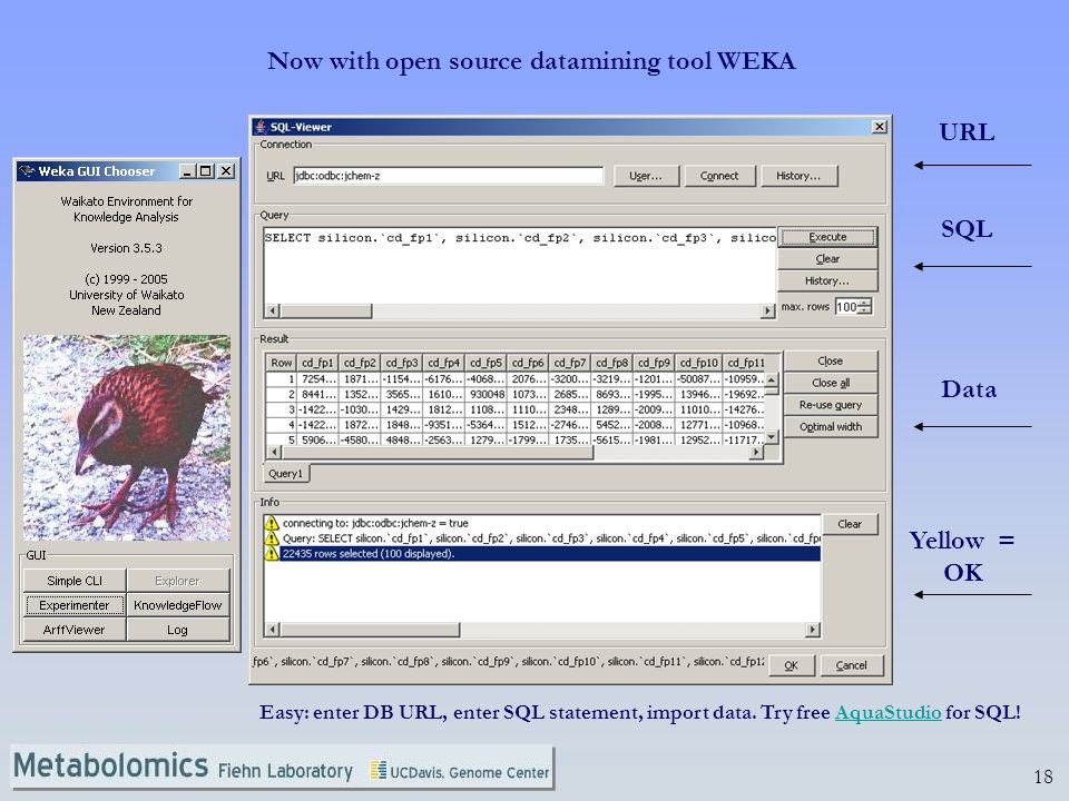 Now with open source datamining tool WEKA