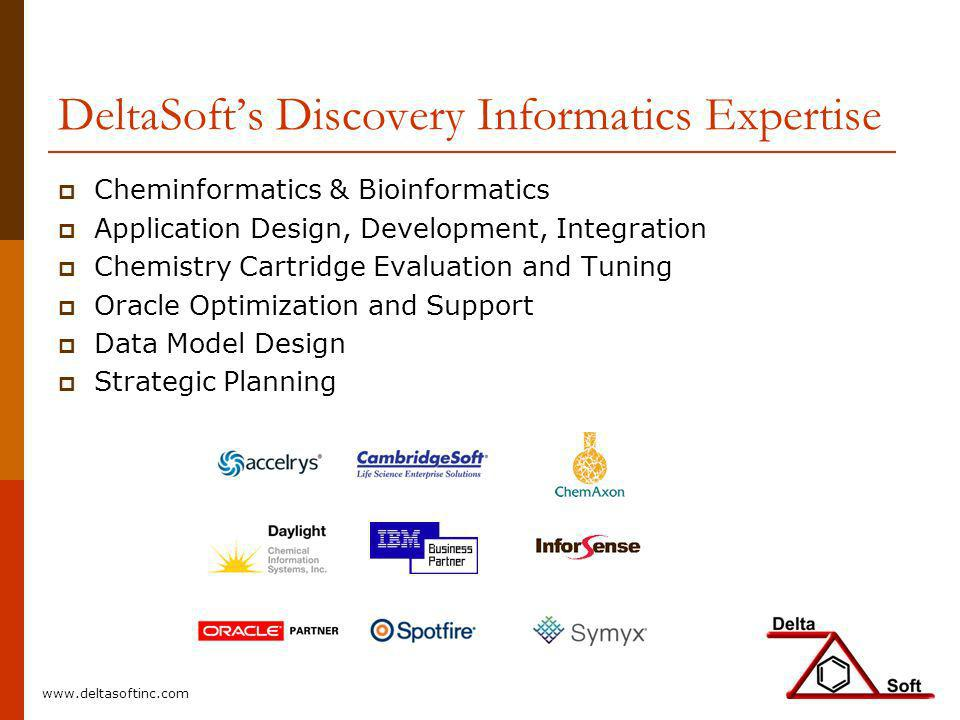 DeltaSoft's Discovery Informatics Expertise