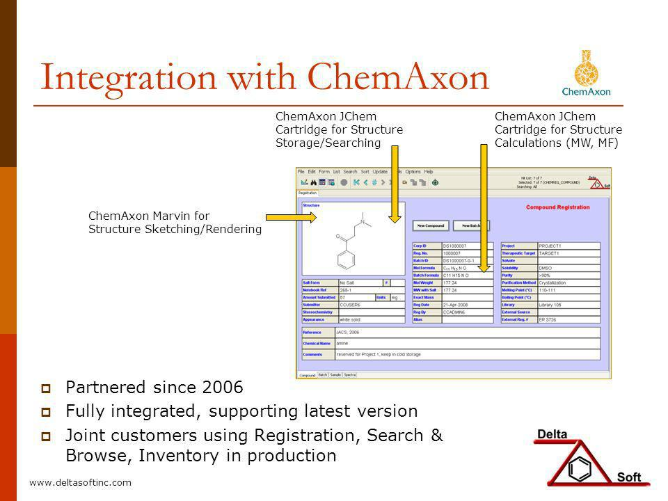 Integration with ChemAxon