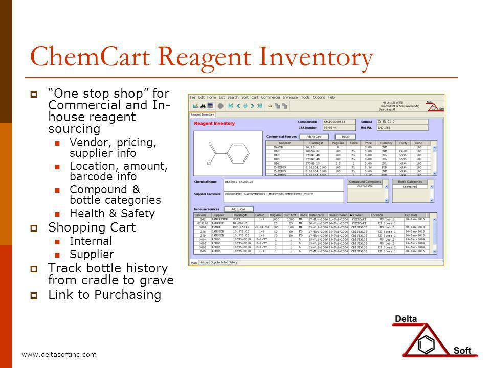 ChemCart Reagent Inventory