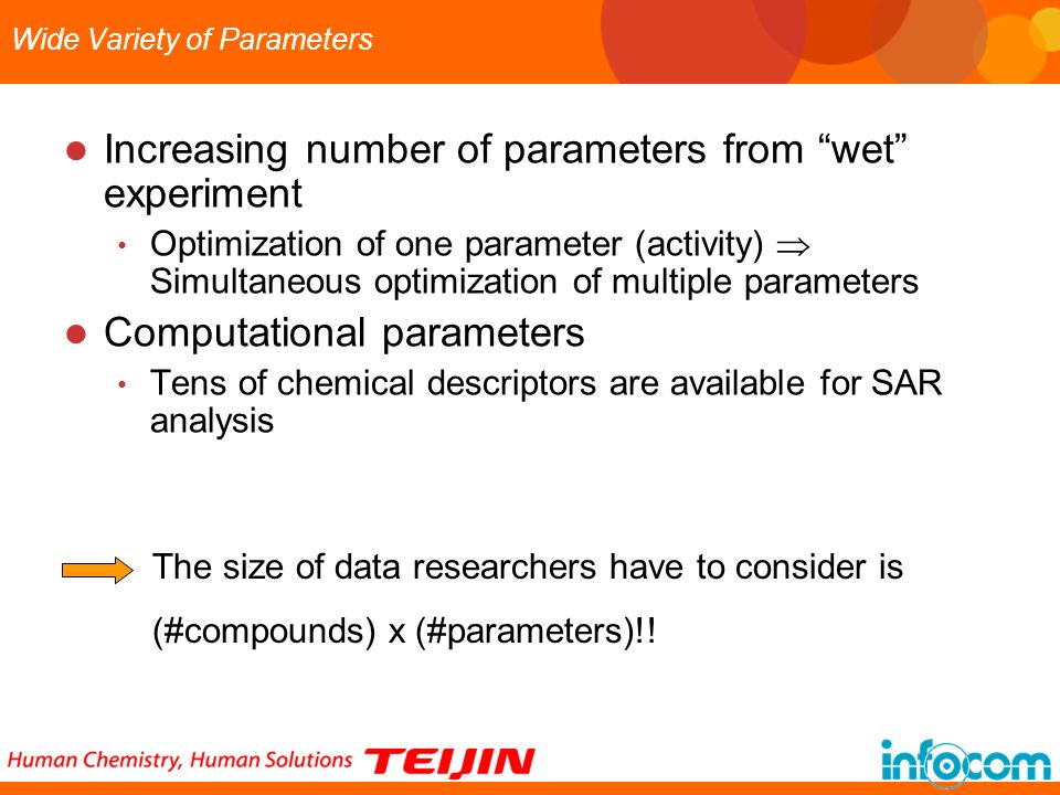 Wide Variety of Parameters
