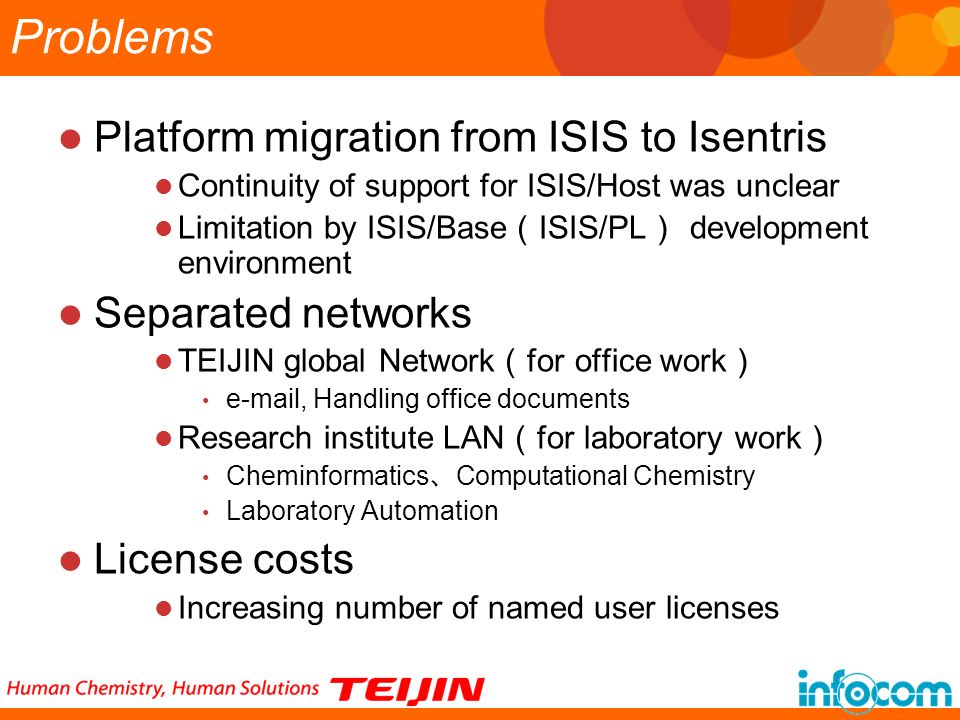 Problems Platform migration from ISIS to Isentris Separated networks