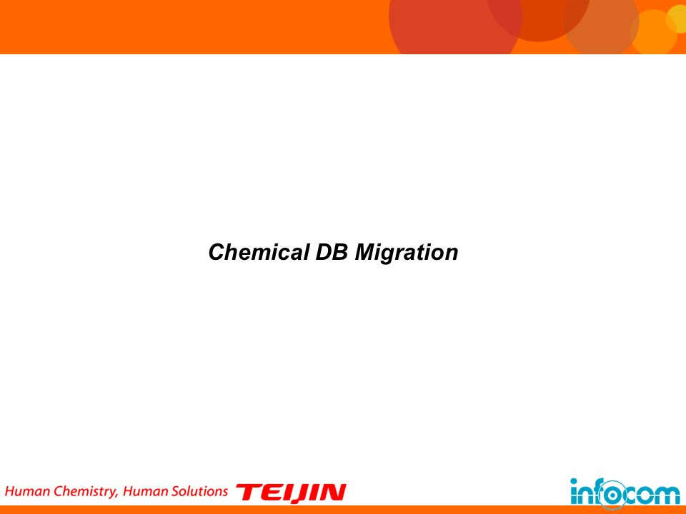 Chemical DB Migration