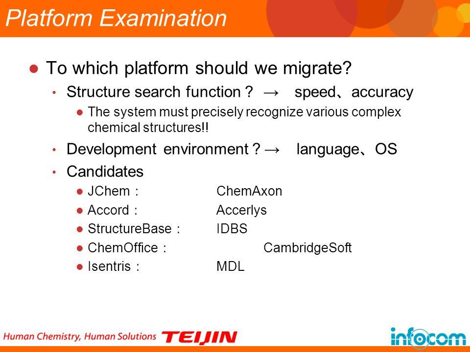 Platform Examination To which platform should we migrate