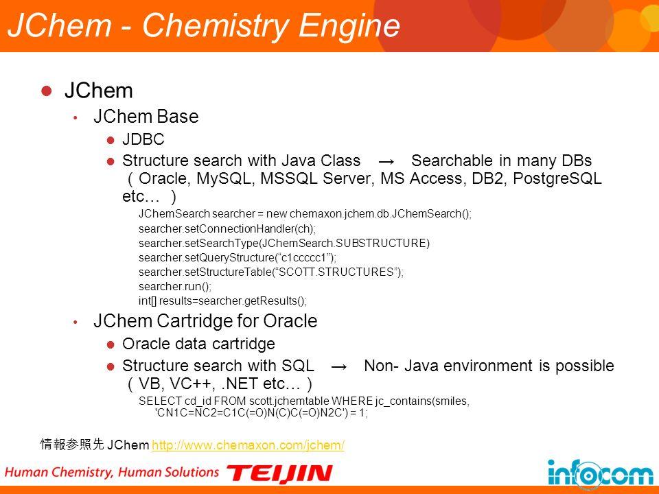 JChem - Chemistry Engine