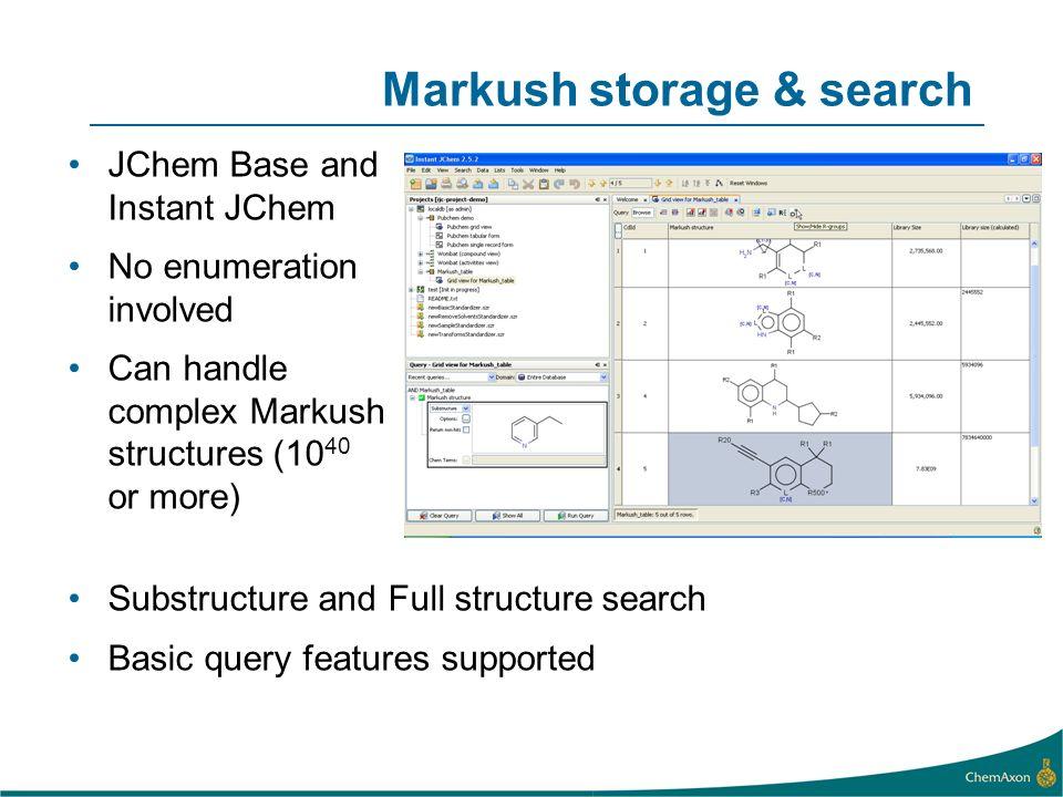 Markush storage & search