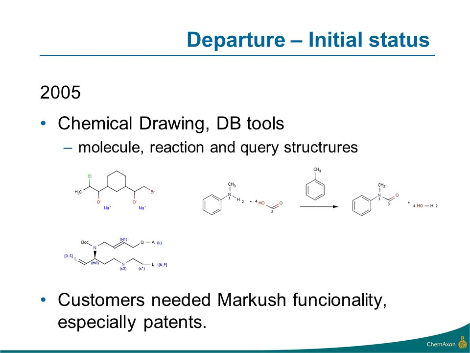 Departure – Initial status
