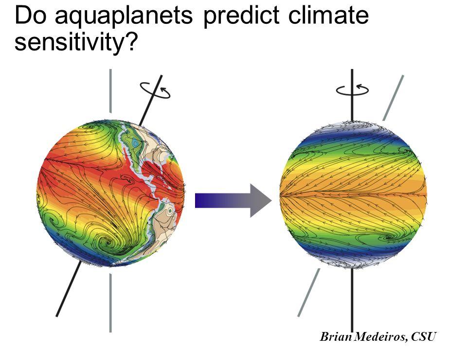 Do aquaplanets predict climate sensitivity