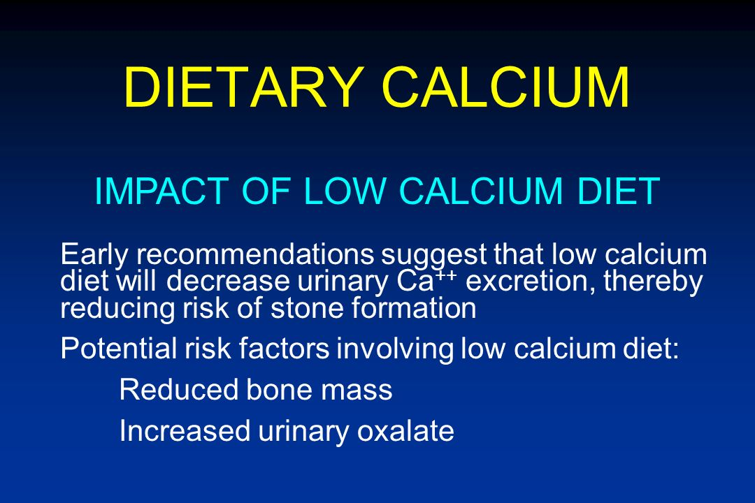 IMPACT OF LOW CALCIUM DIET