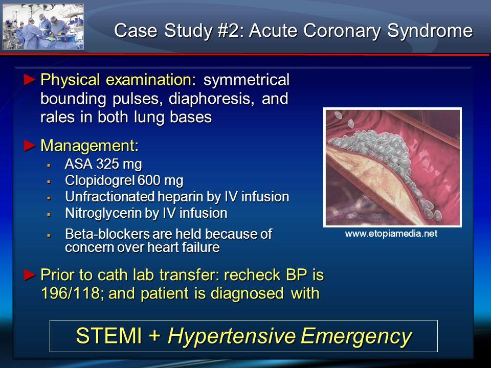 STEMI + Hypertensive Emergency