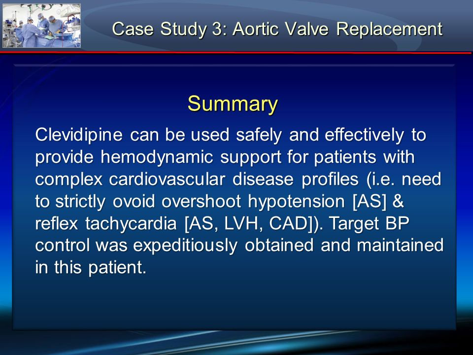 Case Study 3: Aortic Valve Replacement