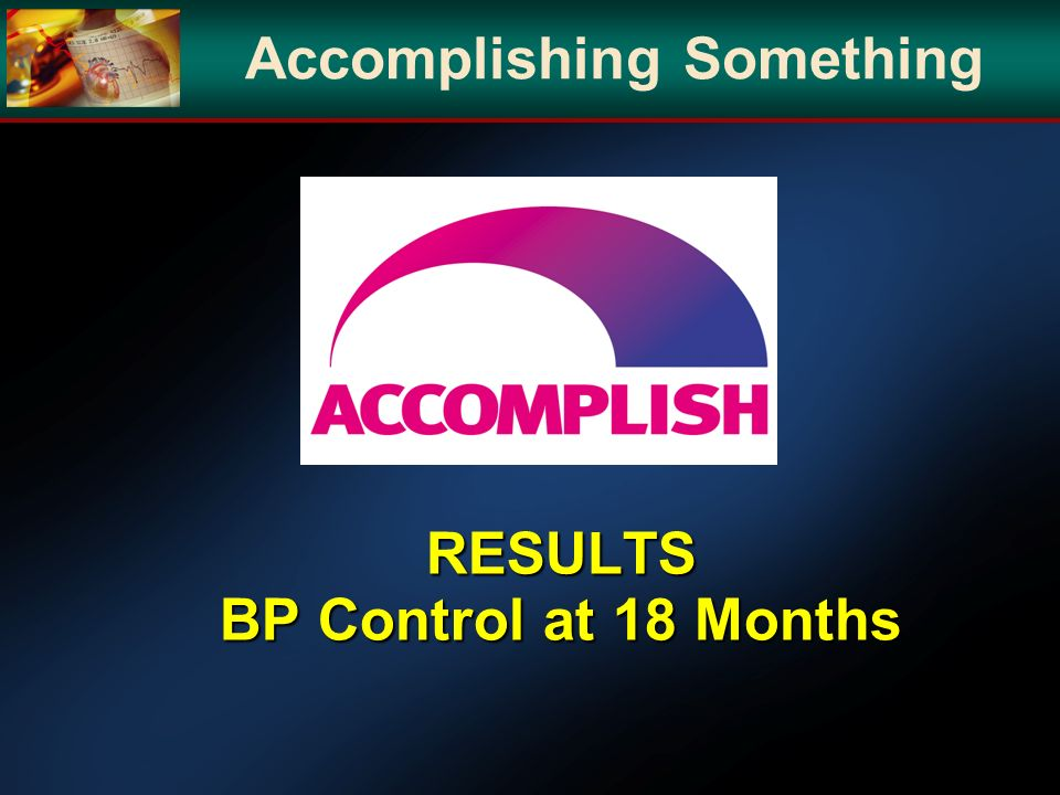 RESULTS BP Control at 18 Months