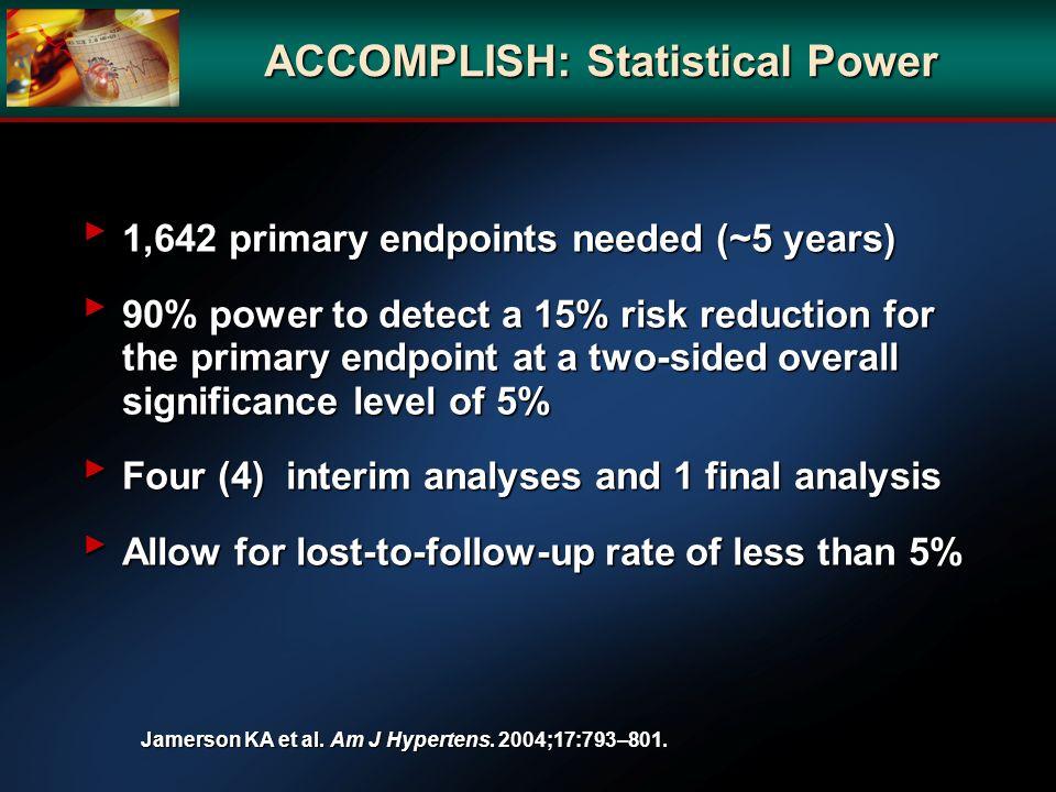 ACCOMPLISH: Statistical Power
