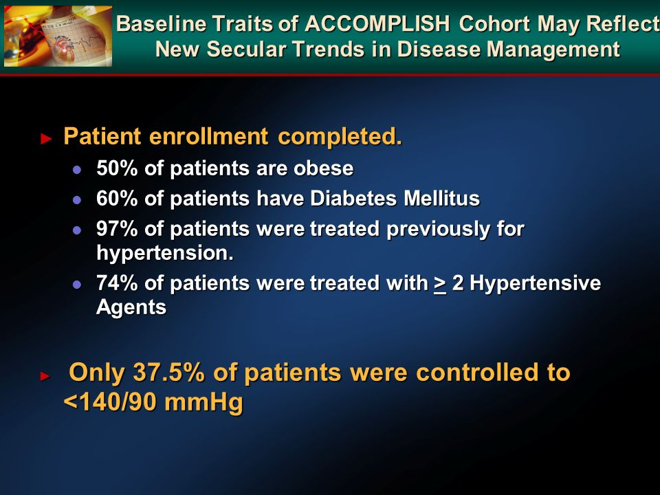 Patient enrollment completed.