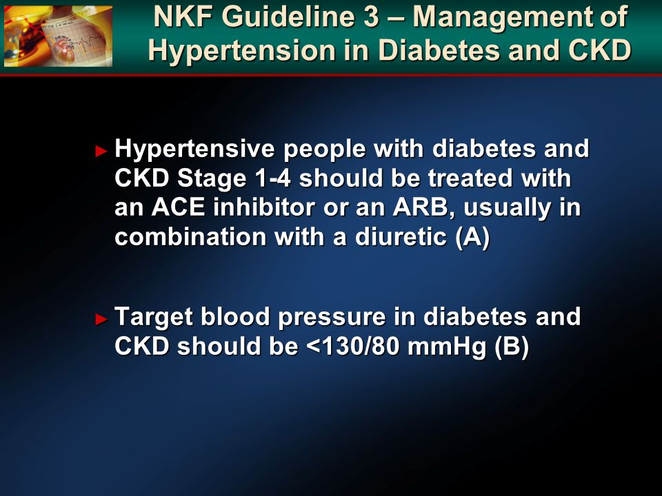 NKF Guideline 3 – Management of Hypertension in Diabetes and CKD