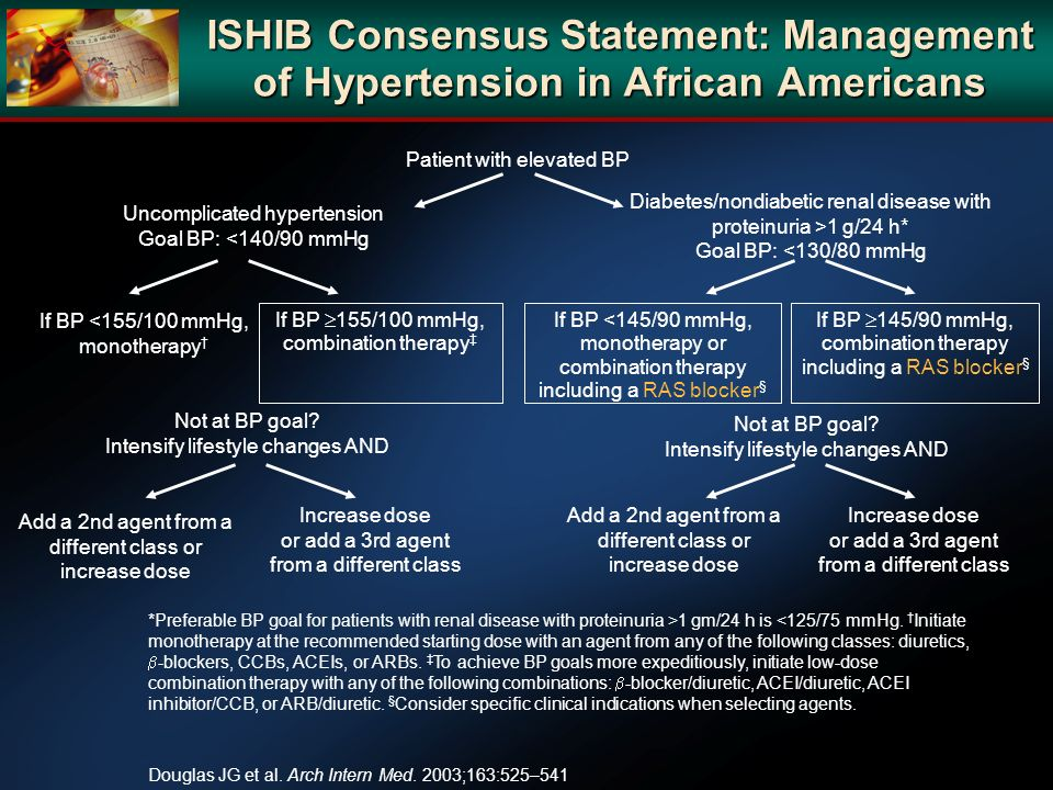 ISHIB Consensus Statement: Management of Hypertension in African Americans