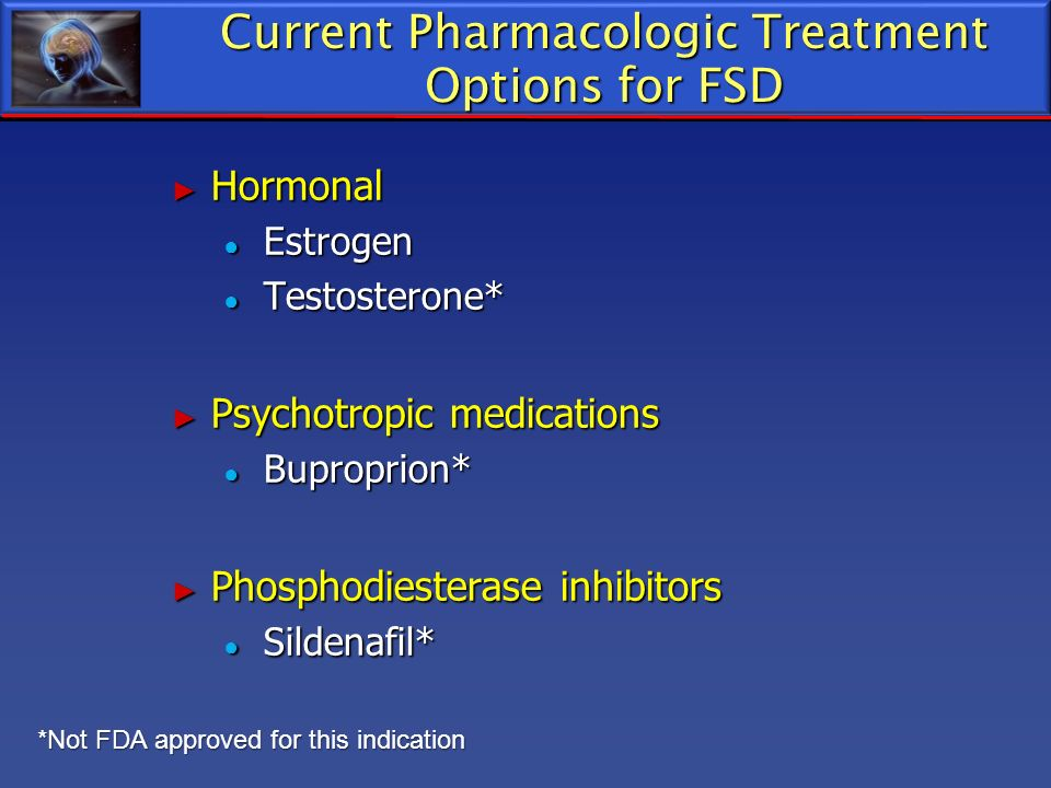 Current Pharmacologic Treatment Options for FSD