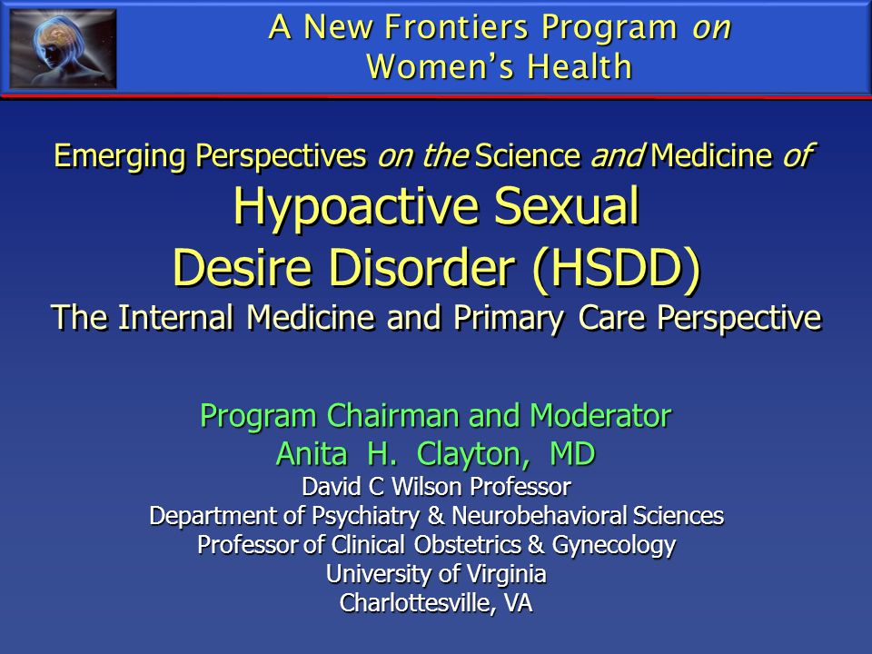 Desire Disorder (HSDD)