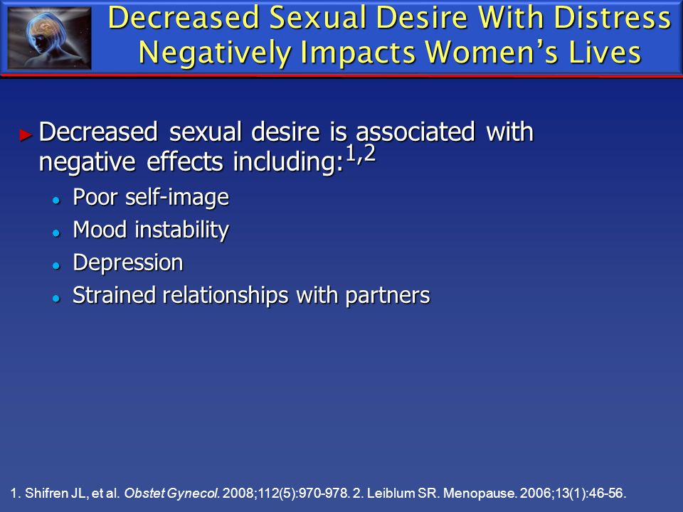 Decreased Sexual Desire With Distress Negatively Impacts Women's Lives