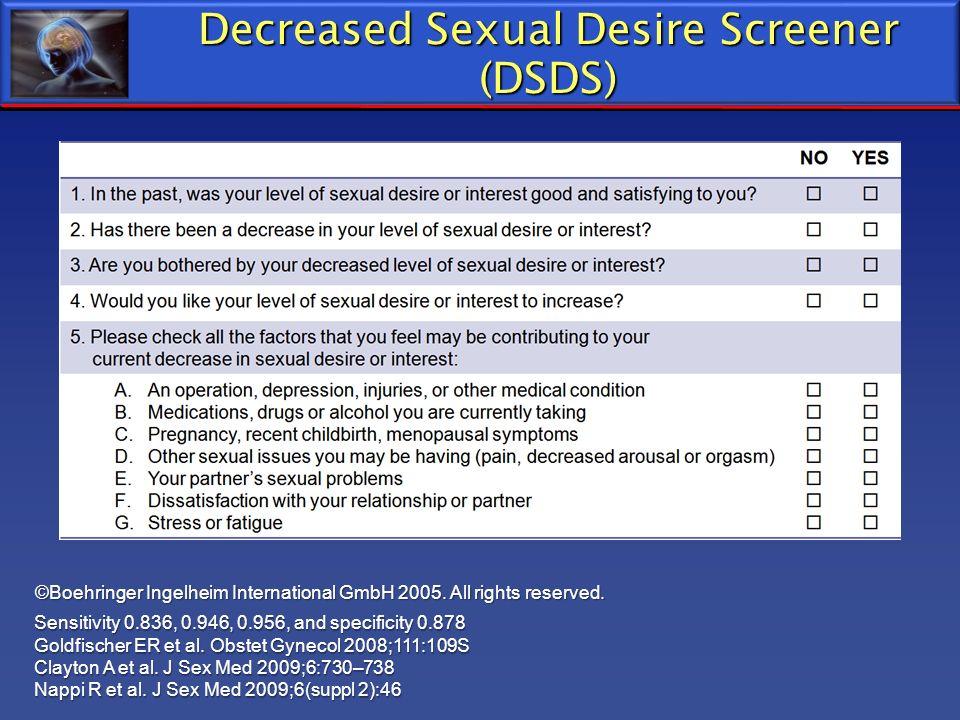 Decreased Sexual Desire Screener (DSDS)