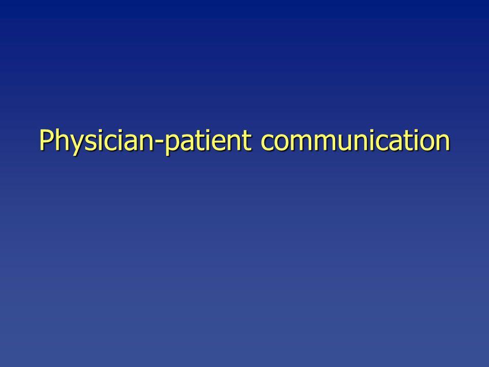 Physician-patient communication