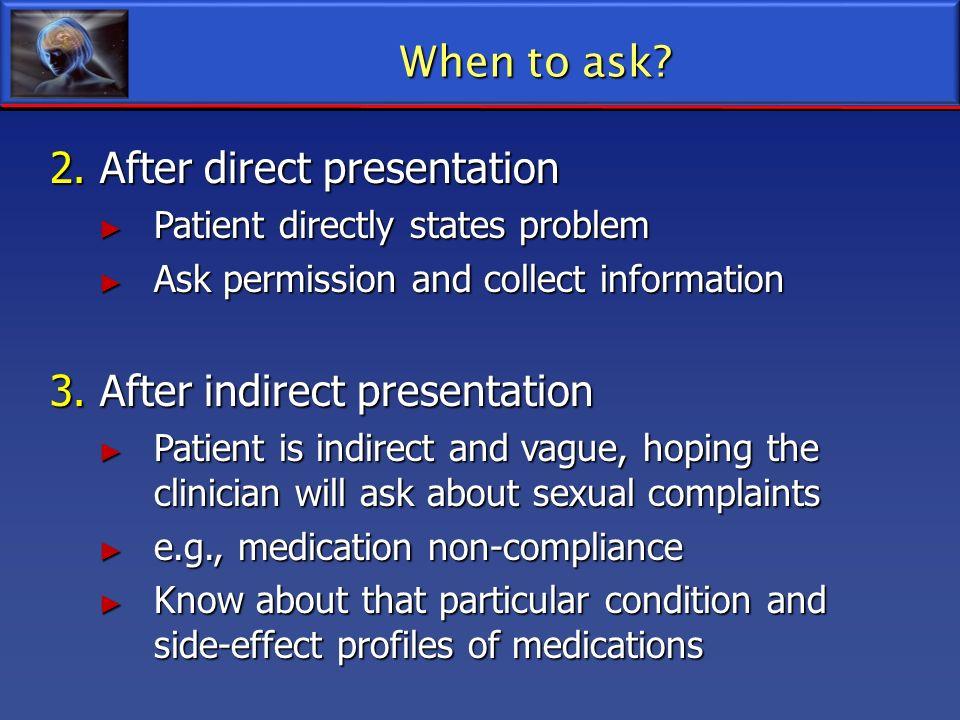 2. After direct presentation