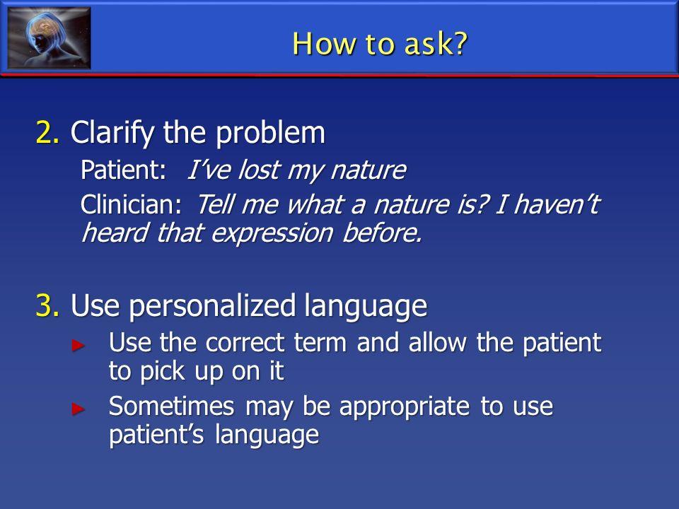 3. Use personalized language