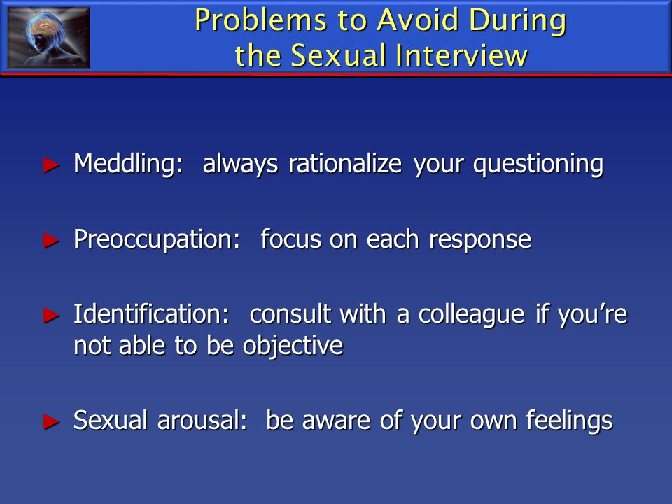 Problems to Avoid During