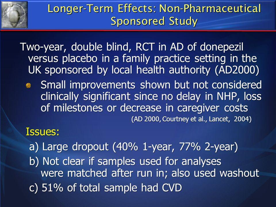 Longer-Term Effects: Non-Pharmaceutical
