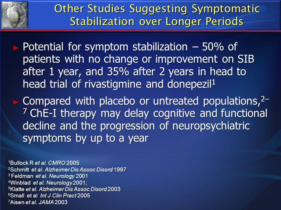 Other Studies Suggesting Symptomatic Stabilization over Longer Periods
