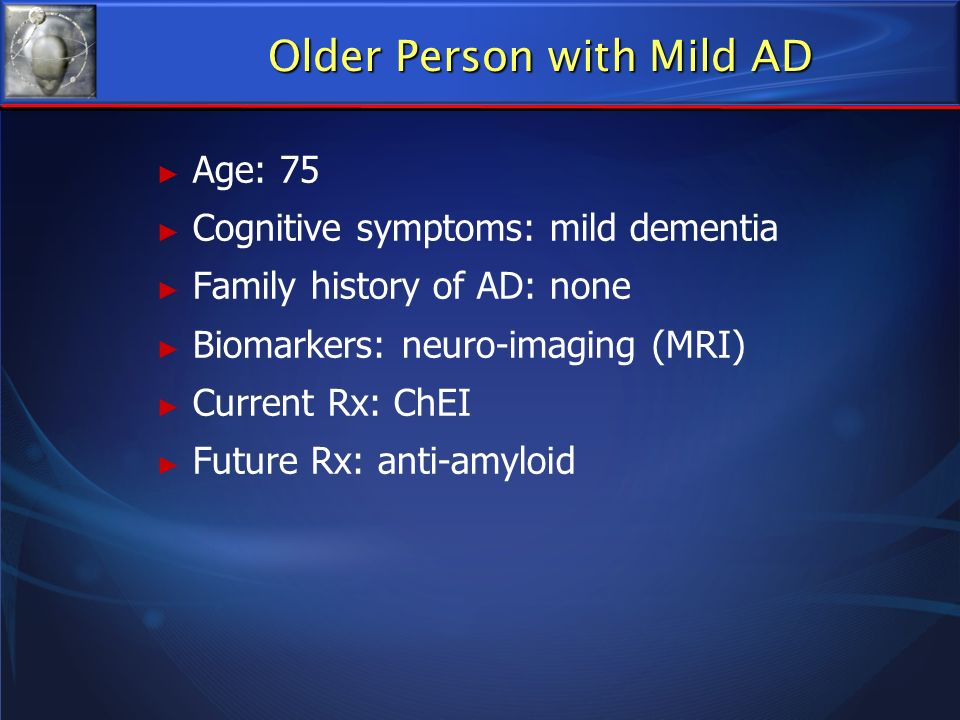 Older Person with Mild AD