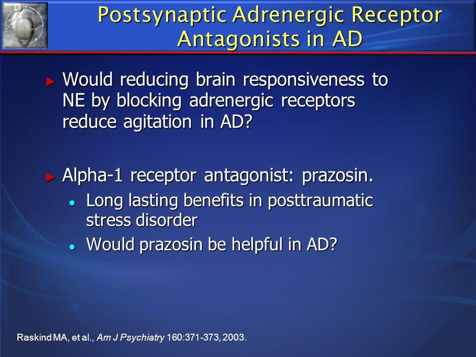 Postsynaptic Adrenergic Receptor Antagonists in AD