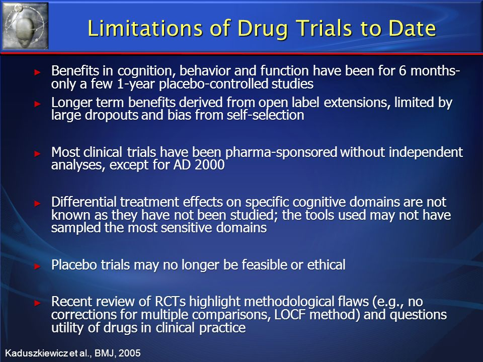 Limitations of Drug Trials to Date