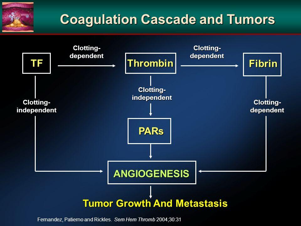 Coagulation Cascade and Tumors