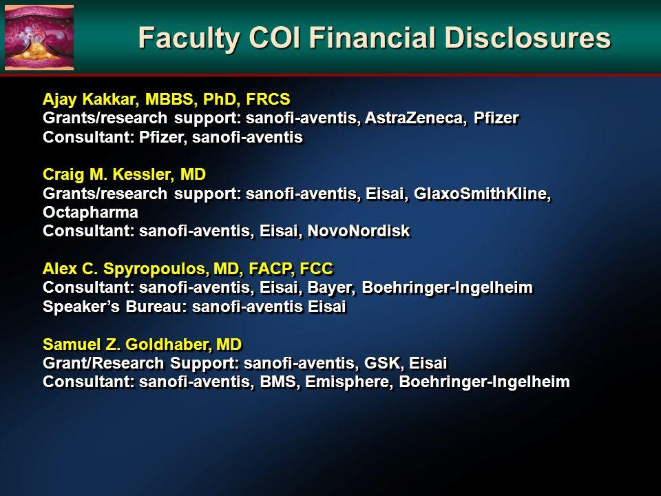 Faculty COI Financial Disclosures