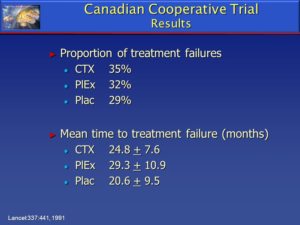 Canadian Cooperative Trial Results
