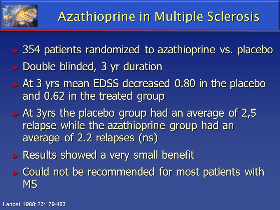Azathioprine in Multiple Sclerosis