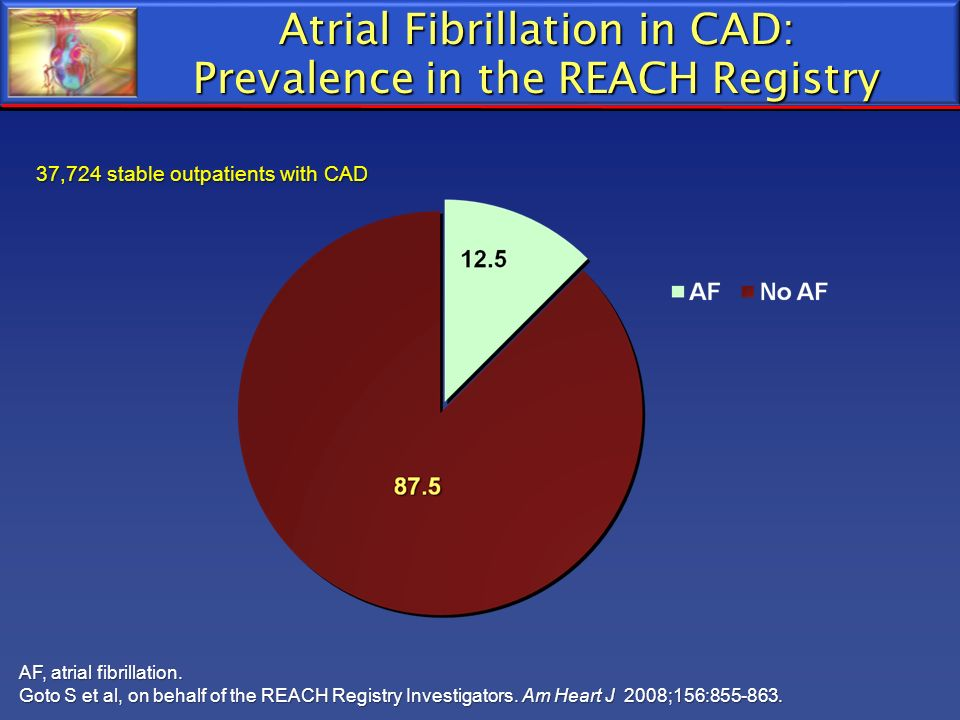 Atrial Fibrillation in CAD: Prevalence in the REACH Registry