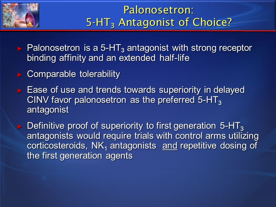Palonosetron: 5-HT3 Antagonist of Choice