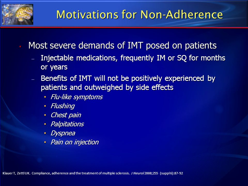 Motivations for Non-Adherence